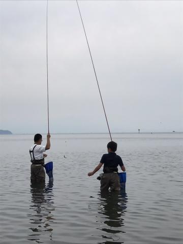 琵琶湖親子でコアユ釣り